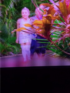 Sorry for the dreadful pic. MKR has yet to upload the episode to yahoo. Actually, the outfit looks better blurry.