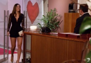 Legs forever ... and her nice bloke date.