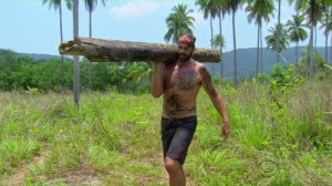 If Scot gets voted out, who's going to carry massive logs around?