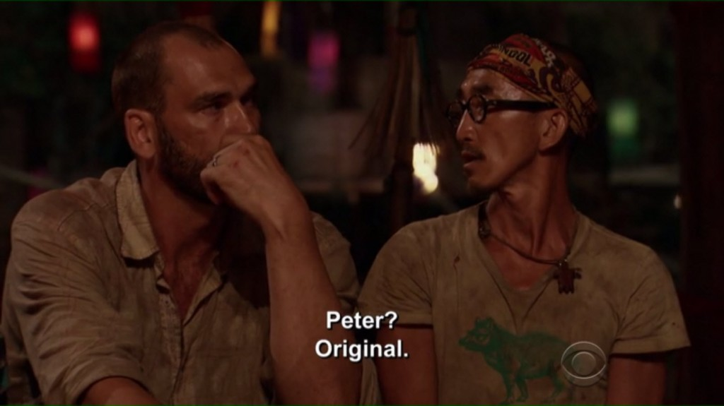 I love it when they whisper stuff at tribal.