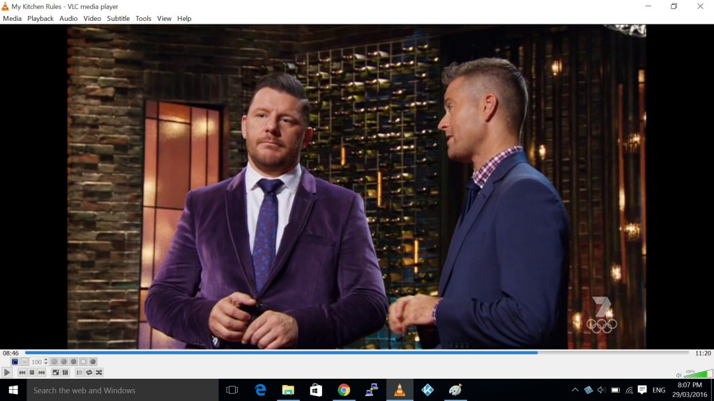 Not even Matt Preston dons purple velvet.
