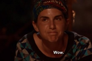 Aubry reacts to Pete's doucheiness.