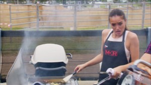 Barbecueing in a tank top is not a good move.