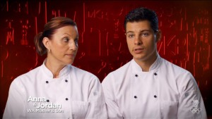 Here's a pic just for Windong so she can swoon over Jordan in  chef's whites.