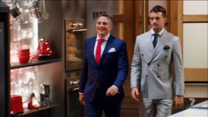 Will got the pick of the suits this year - Steve's not the pretty one, for once.