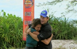 Aubry's dream of touching the great Survivor God Probst becomes a reality.