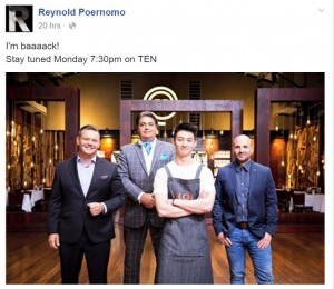 From Reynold's Facebook page.